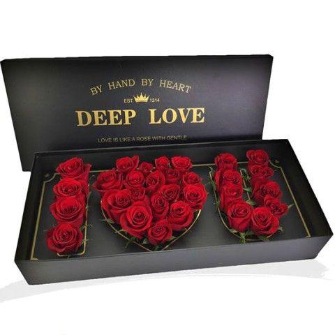 Deep Love Box - Valentine's Day Flowers